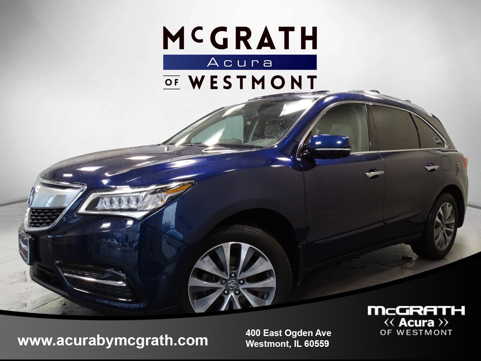 pre owned 2014 acura mdx tech pkg sport utility in westmont w8171a rh acurabymcgrath com