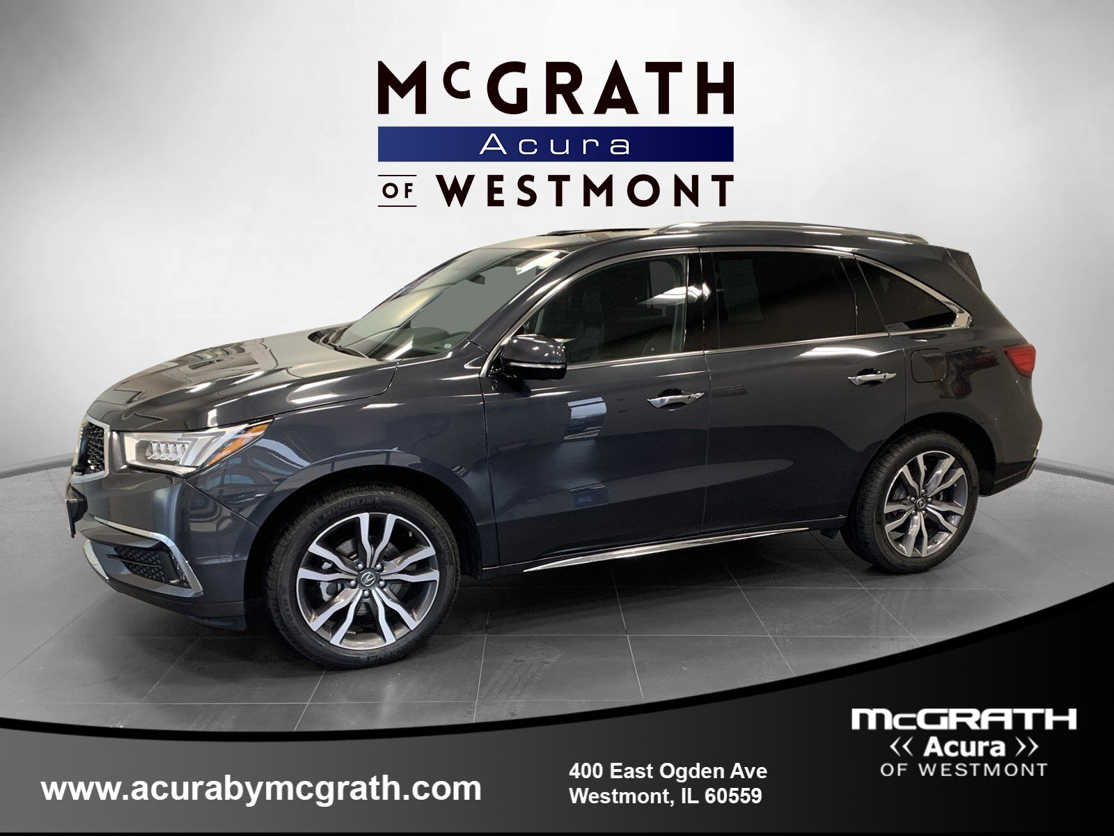 Certified Pre-Owned 2019 Acura MDX SH-AWD with Advance and Entertainment Packages