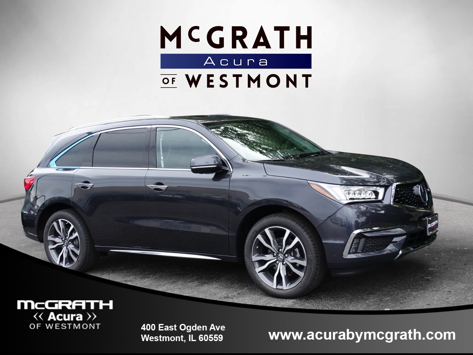 New 2019 Acura MDX AWD ADVANCE 7P Entertainment Sport Utility in