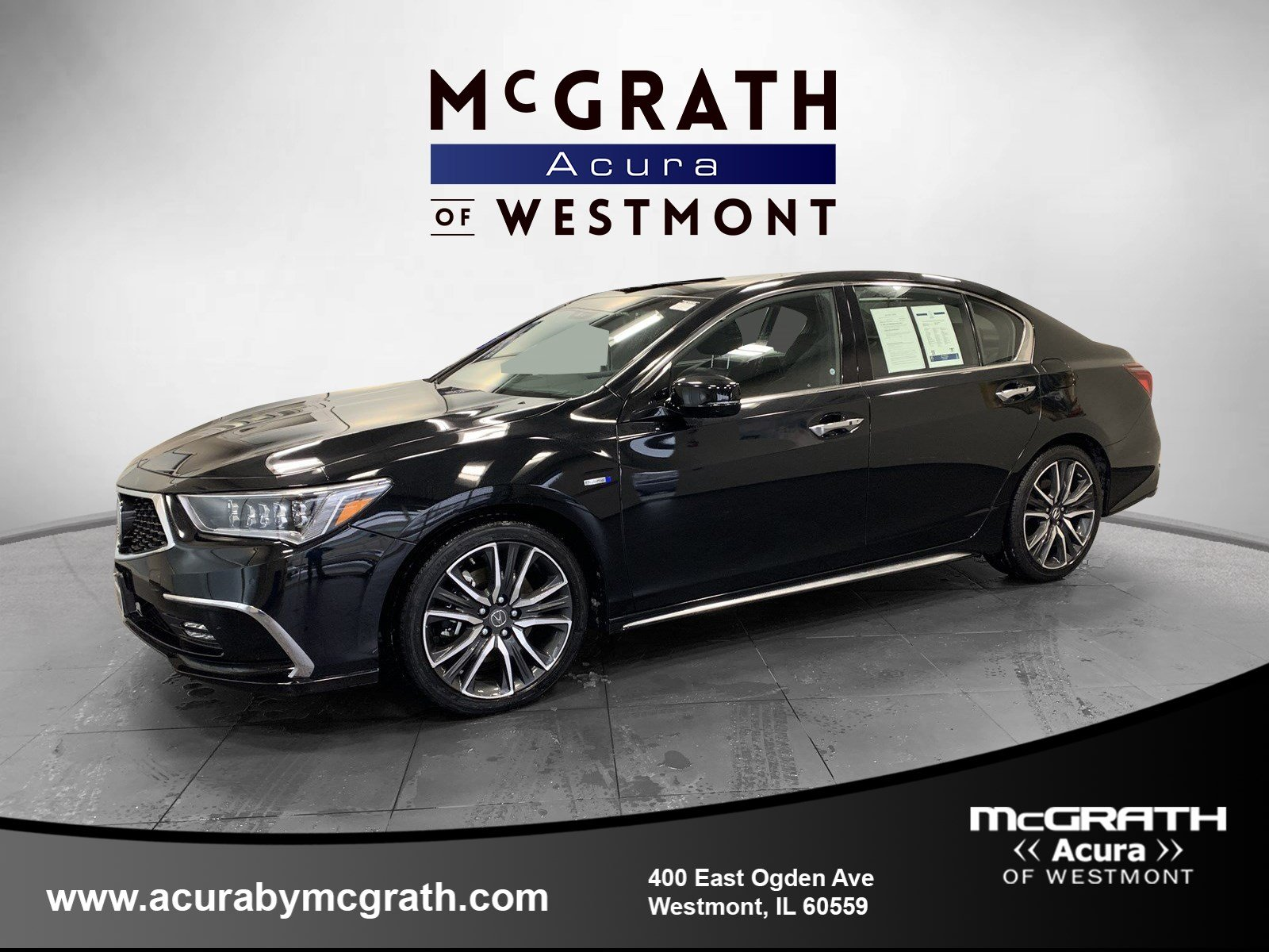Certified Pre-Owned 2019 Acura RLX SPORT HYBRID SHAWD ADV
